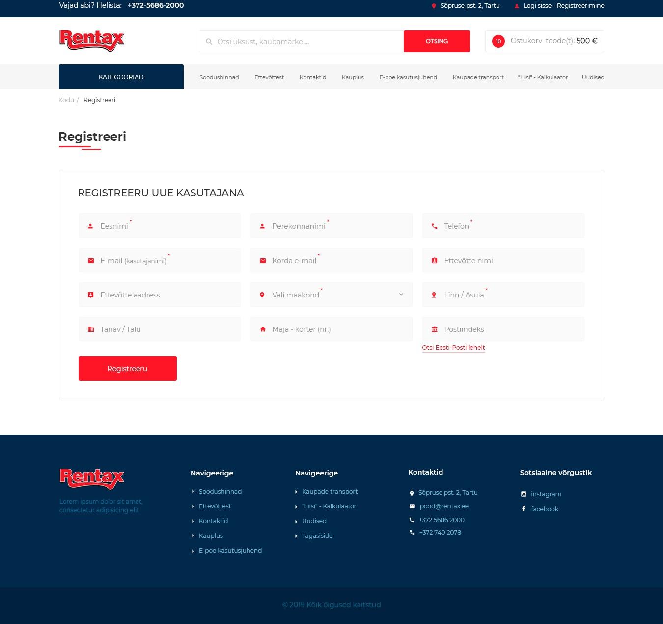 Rentax_Registration