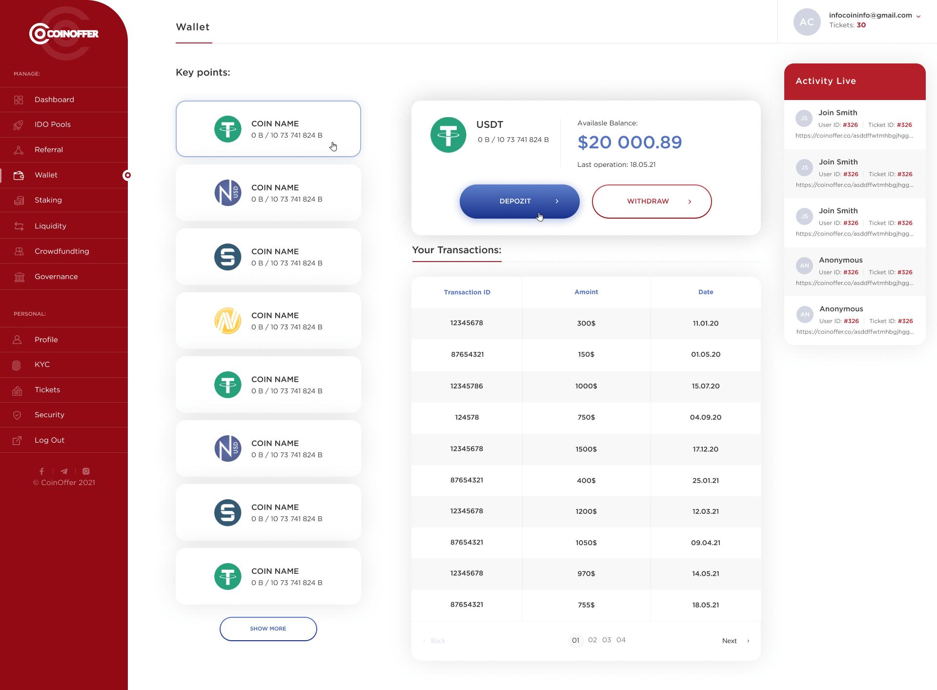 CoinOffer _Dashboard_01_Wallet_1.0